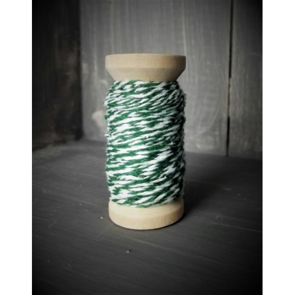 Ficelle bicolore - Backer's Twine - vert - 8M - Photo n°1