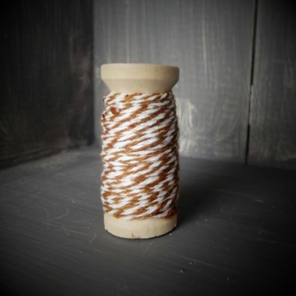 Ficelle bicolore - Backer's Twine - brun - 8M - Photo n°1