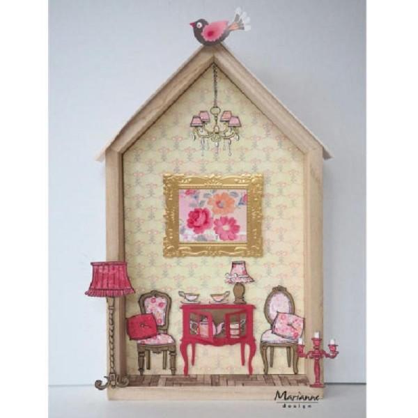 Kit déco scrapbooking- Maison de poupée - Marianne Design - Photo n°2