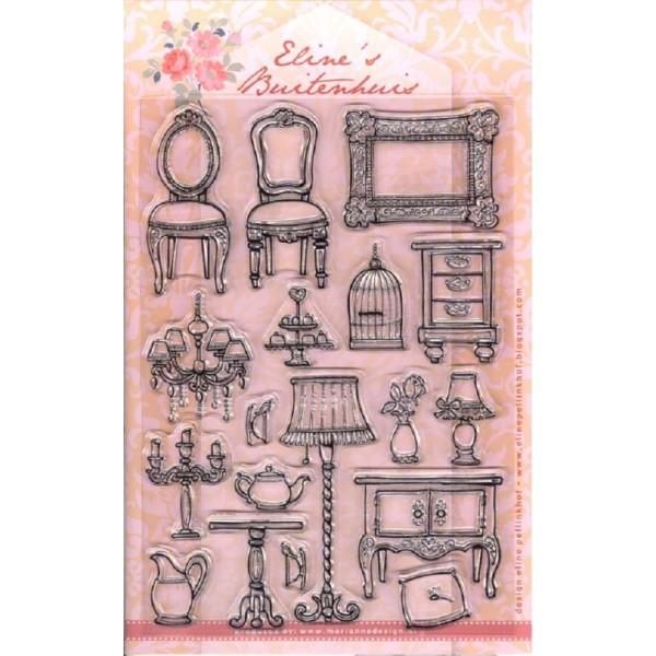 Kit déco scrapbooking- Maison de poupée - Marianne Design - Photo n°4