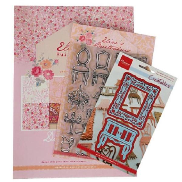 Kit déco scrapbooking- Maison de poupée - Marianne Design - Photo n°1