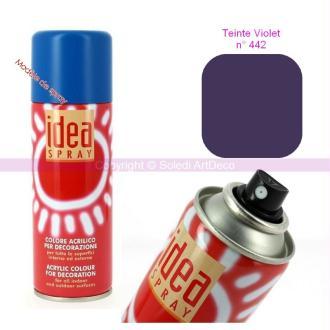 Spray acrylique couleur Violet N°442, Bombe aérosol adaptée au polystyrène,