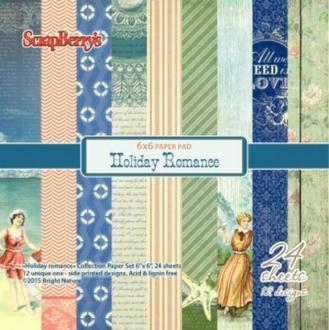 24 papiers 15.2 x 15.2 cm SCRAPBERRY'S HOLIDAY ROMANCE
