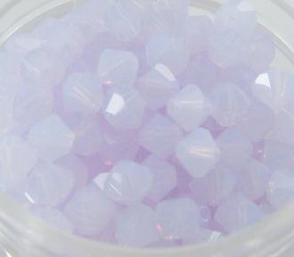 Lot 20 Toupies Cristal Swarovski Violet Opal - 4 mm