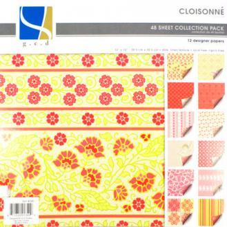48 cartons fantaisis 30x30 cm CLOISONNE GCD STUDIO