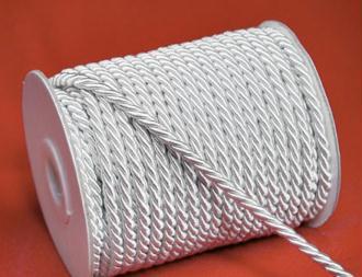 2 mètres de cordon cordelette fantaisie 4mm BLANC