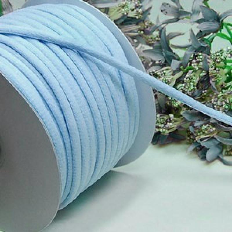 2 mètres de cordelettes toucher doux 5 mm LAYETTE BLEU - Photo n°1