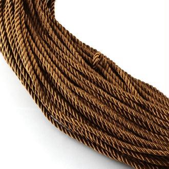 2 mètres de cordelettes cordon corde fantaisies 5 mm MARRON