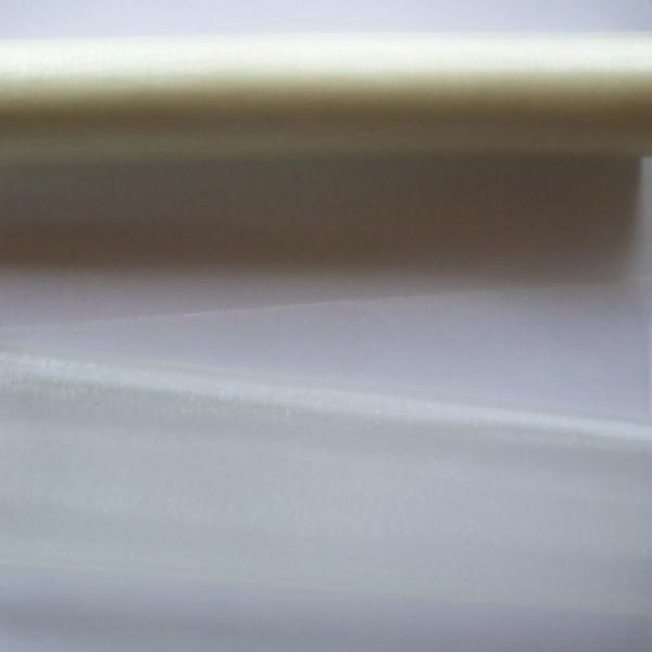 1 mètre de tissu organza couture scrapbooking décoration 1 m x 28 cm BLANC CASSE - Photo n°1
