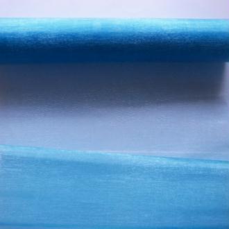 1 mètre de tissu organza couture scrapbooking décoration 1 m x 28 cm BLEU