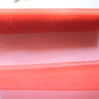 1 mètre de tissu organza couture scrapbooking décoration 1 m x 28 cm ROUGE