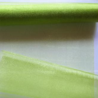 1 mètre de tissu organza couture scrapbooking décoration 1 m x 28 cm ANIS