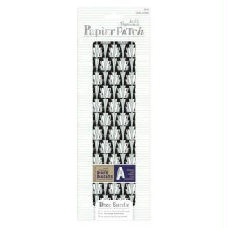 3 feuilles papier décopatch 26 x 37.5 cm PAPERMANIA ART DECO