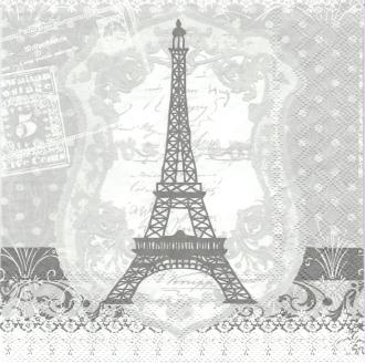 4 Serviettes en papier Paris Tour Eiffel Format Lunch