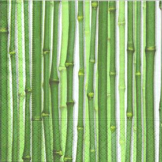 4 Serviettes en papier Bambou Format Cocktail