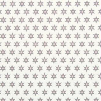Tissu long island star 1 blanc étoiles grises