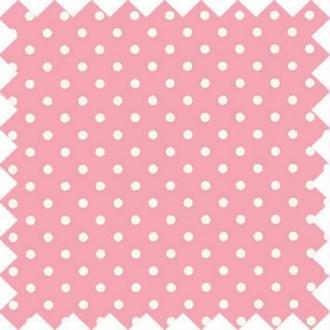 Tissu gutermann rose à pois blanc