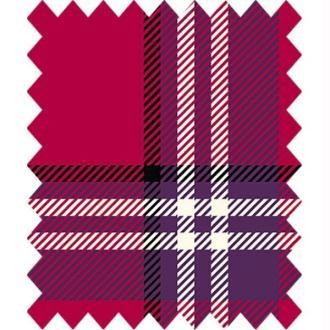 Tissu ecossais fenton house rouge gutermann