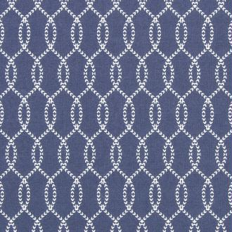 Tissu island trendil 3 bleu marine cordage blanc