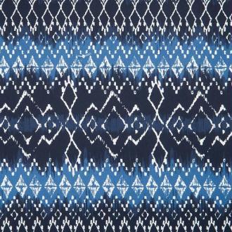 Tissu motifs ethniques indigo