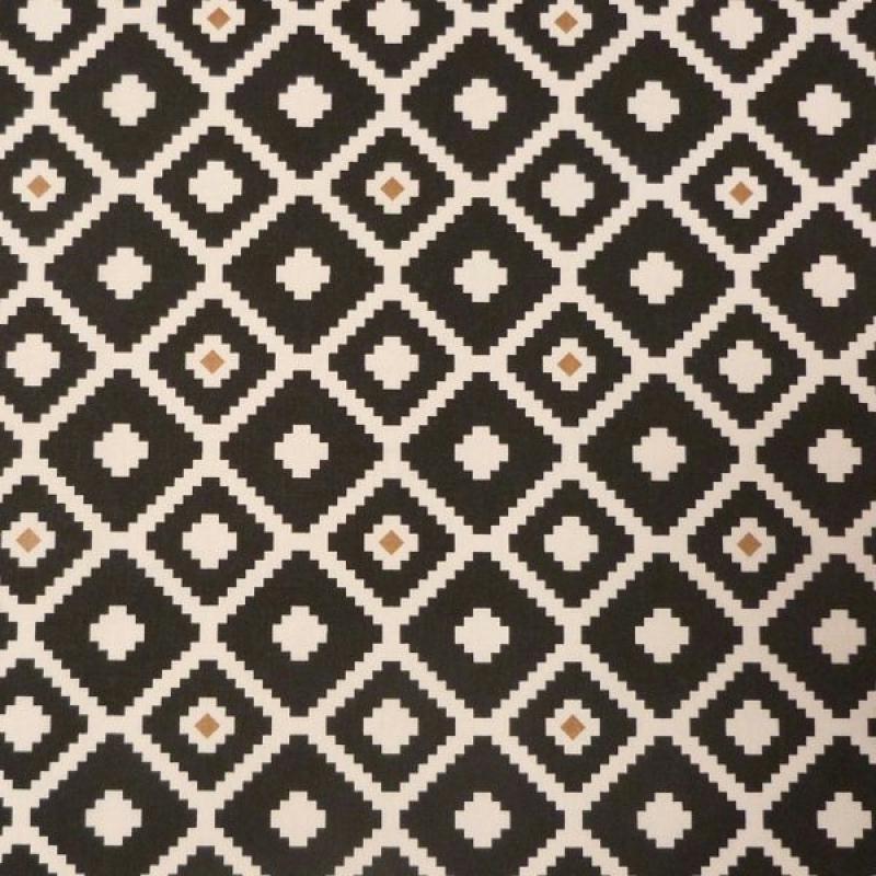 Motif Tatouage Noir Et Blanc: Tissu Motifs Géométriques Noir Blanc Brun