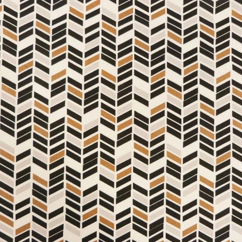 tissu motifs g om triques noir blanc brun tissu wax africain g om trique creavea. Black Bedroom Furniture Sets. Home Design Ideas