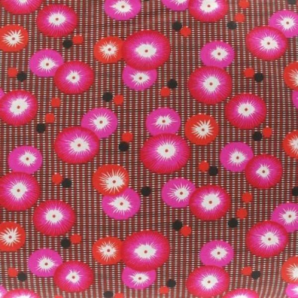 Tissu enduit coquelicot rouge petit pan - Photo n°1
