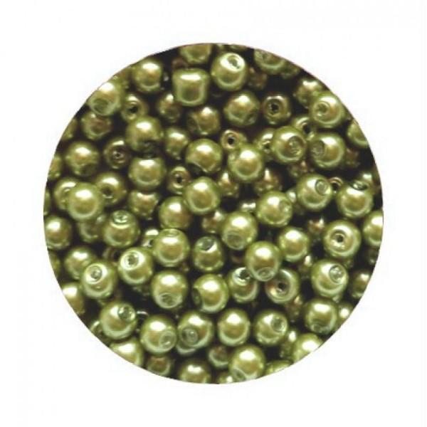 10 Strass Ronds environ 6 mm vert