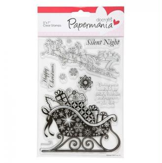 Tampon transparent clear stamp scrapbooking PAPERMANIA SILENT NIGHT