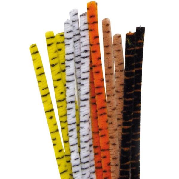 Assortiment fil chenille animaux 9 mm x 30 cm - Lot de 25 - Photo n°1