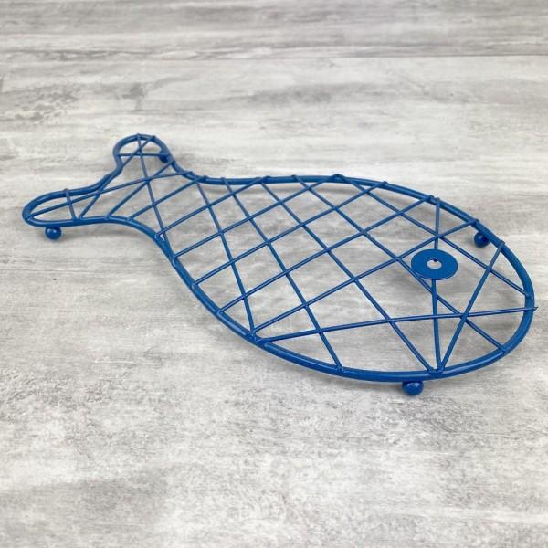 Dessous de plat Poisson Bleu en Métal, dim. 25 x 13 cm, pour table maritime - Photo n°2