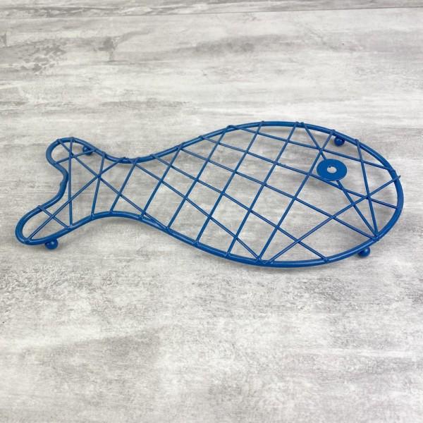 Dessous de plat Poisson Bleu en Métal, dim. 25 x 13 cm, pour table maritime - Photo n°3