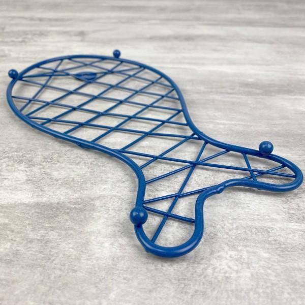 Dessous de plat Poisson Bleu en Métal, dim. 25 x 13 cm, pour table maritime - Photo n°4