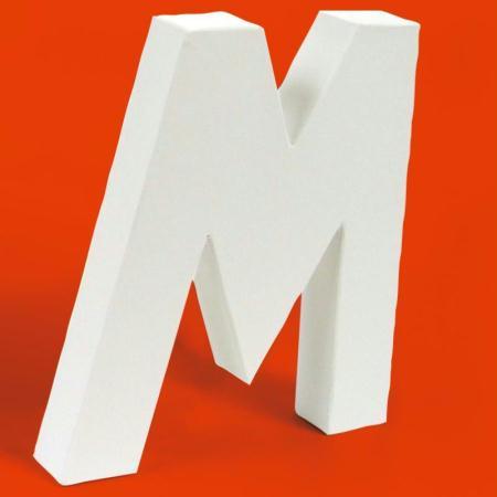 Lettre en carton M - Photo n°1