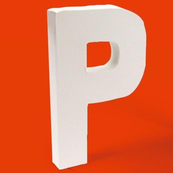 Lettre en carton P - Photo n°1