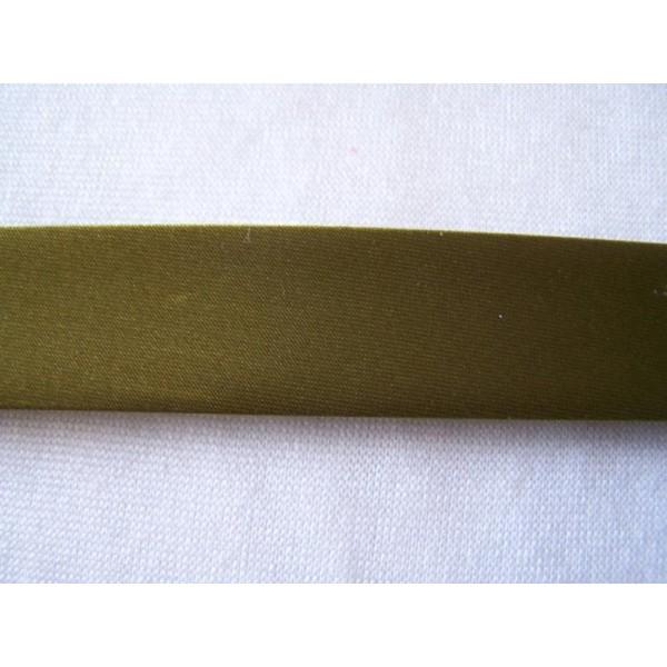 Biais satin, vert foncé, au mètre - Photo n°1