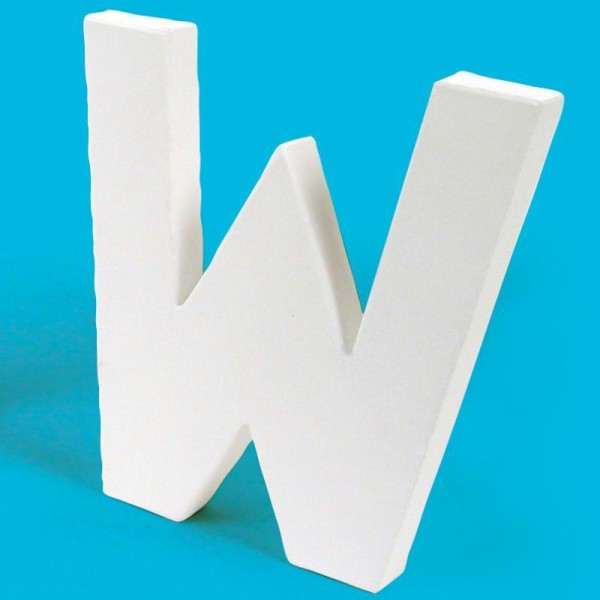 Lettre en carton W - Photo n°1