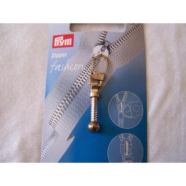 Tirette fashion, tige boule métal - Photo n°1