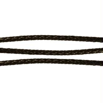 Cordon bijoux tressé simili cuir 6 mm marron foncé - 1,5 mètres