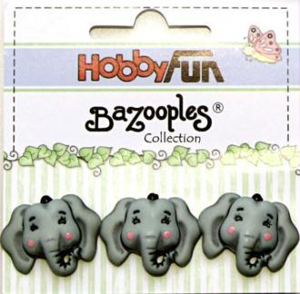 3 boutons fantaisies scrapbooking décoration ELEPHANT
