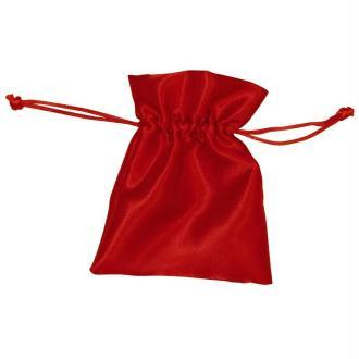 Sachets cadeau en satin rouge 12,5 x 10 cm - 6 pièces