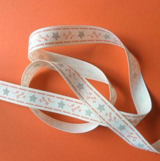 2 m de ruban polyester 1.5 cm couture scrapbooking décoration NOEL