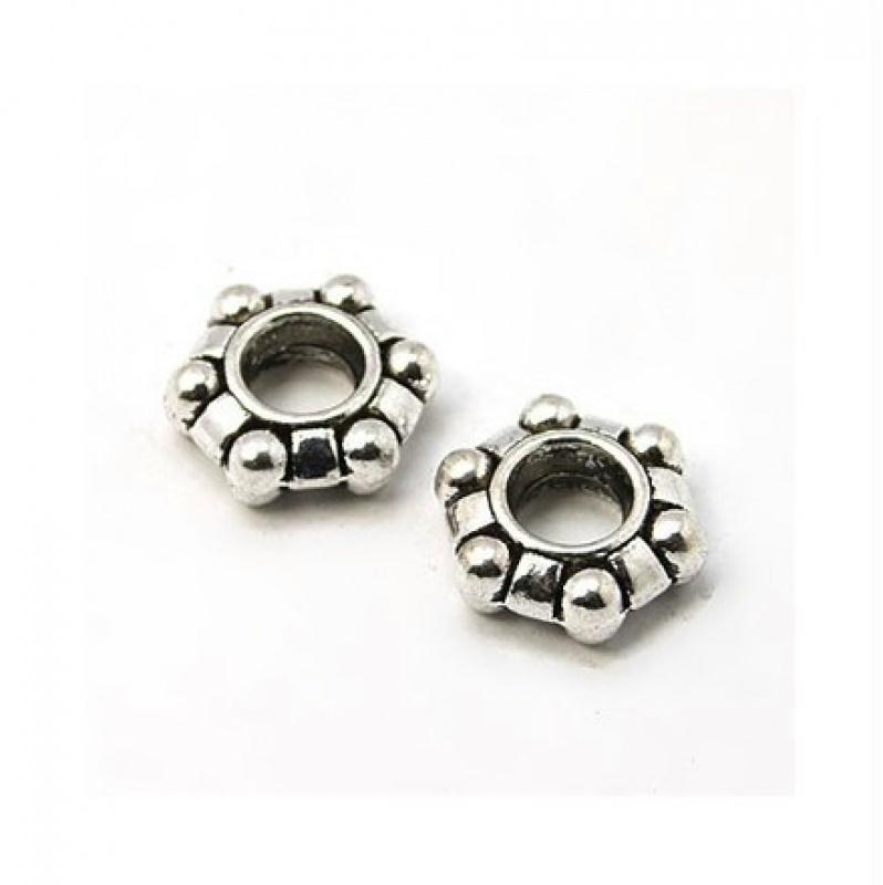 Lot de 20 perles Rondelles 5 x 3 mm intercalaires style Tibétain