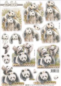 Feuille 3D pré-découpée A4 Panda