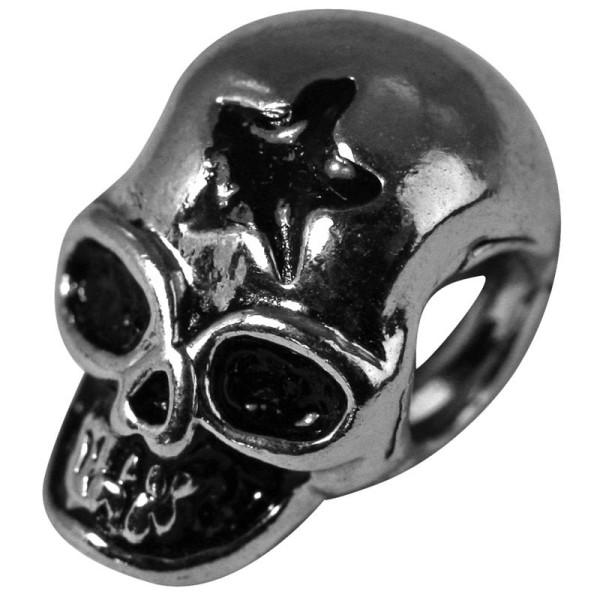 Perle métal ciselé Tête de mort 12 mm - Photo n°1