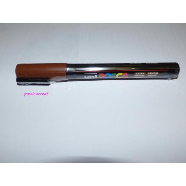 Un Marqueur Posca Marron Pointe Conique Fine 1.5mm - Photo n°1