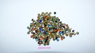 2gr Strass Facette Dos Pointe Multicolore 2.4mm