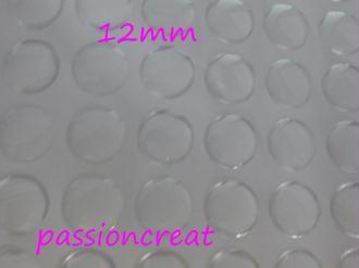 10 Cabochon En Résine Transparent Rond 12mm