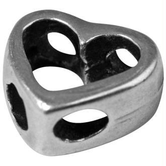 Perle métal ciselé Coeur évidé 11 mm