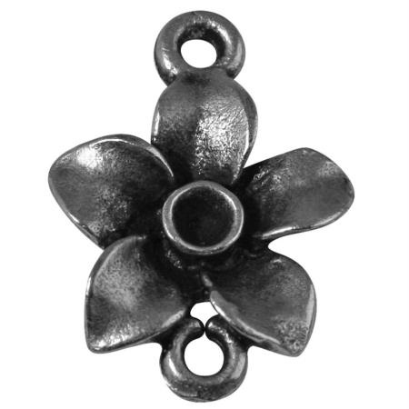 pendentif breloque fleur en m tal 17 mm pendentif fantaisie creavea. Black Bedroom Furniture Sets. Home Design Ideas